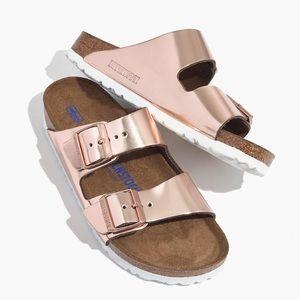 Birkenstock Rose Gold Arizona Soft Footbed Sandal